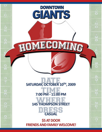Homecoming09 invitation cv