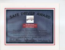 Safe driver award 1997 robert jackson  cv
