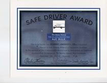 Safe driver award 1998 robert jackson  cv