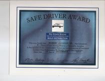 Safe driver award 1999 robert jackson  cv