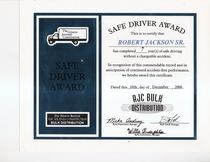 Safe driver award 2000 robert jackson  cv