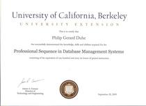 Ucbx certificate cv