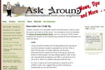 Ask around home page cv