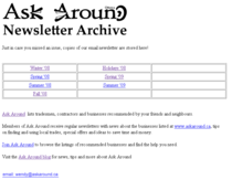 Ask around newsletter archive cv