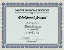 Tss divisional award cv