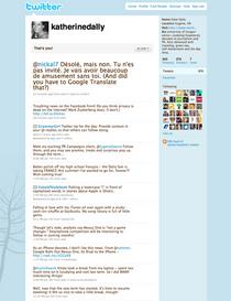 Small twitter screenshot cv