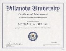 Villanova essentials of project mgt cv