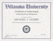 Villanova mastering project mgt cv
