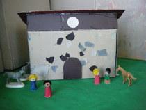 Barn within castle wlls 5 cv