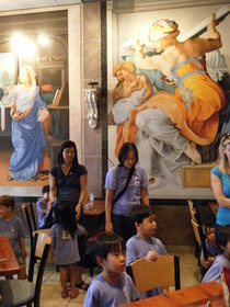 Cafe sistina mural cv