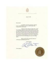 Cc   prime minister letter cv
