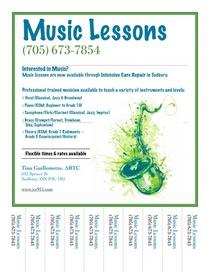 Music lessons cv
