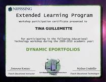 Dynamic eportfolios certificate cv