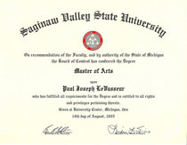 Masters degree cv
