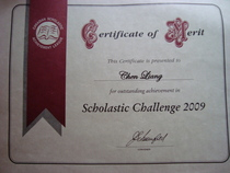 Scholastic challenge cv