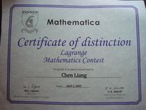 Math contest cv
