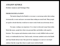 Kindle written report thumb cv