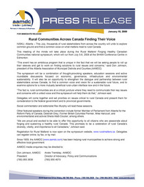 Aamdc press release rural communities across canada finding voice cv