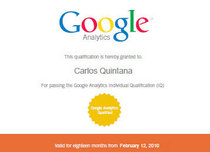 Certificate for the web cv