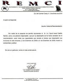 Carta de recomendacion remci cv