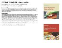 Foodie traveler page 1 cv