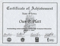 Outstanding achievement in career and technical education 2004 cv