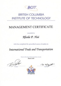 Bcit certificate cv