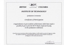 Bcit participation award cv