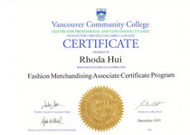 Fashion merchandising cert cv