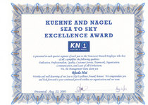 Kn sea to sky award cv