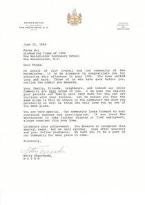 Mayor s letter cv