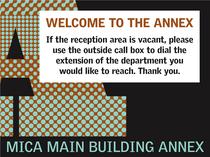 Mica annex signage cv