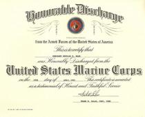Discharge certificatenssn cv