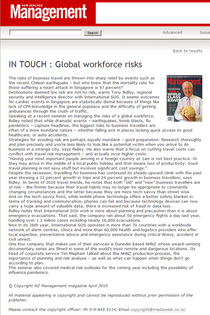 Global workforce risks nz management magazine apr 2010 cv
