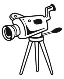 Moviecamera clipart cv