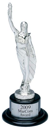 Marcom statuette 2009 platinum cv