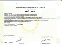 Diplome metrise cv