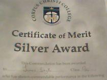 Certificate of mert silver award cv
