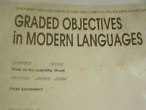Graded objectives in modern langauges spanish level 3 cv
