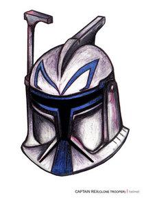 Capt rex clonetrooper helmet cv