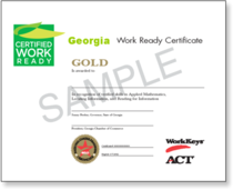 Georgia work ready certificate cv