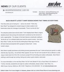 News release one cv