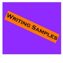 Writingsamples cv