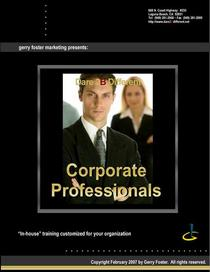Brochure corporate professionals  cv