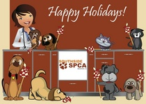 Southside spca holiday card cv