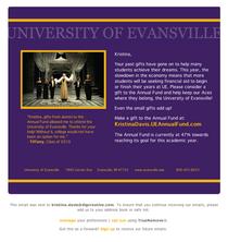 University of evansville cv