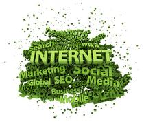 Internet social media collage cv