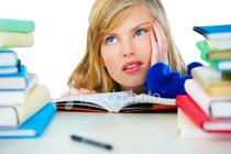 Girl studying cv
