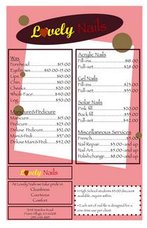 Price guide cv