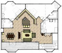 Rendered floor plan cv